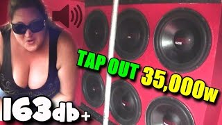 Deadly 163db BASS TAP OUTS! Loudest Sound System I Ever Heard / Zack Metts PAINFUL SSA Subwoofer SPL