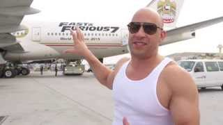 getlinkyoutube.com-Furious 7: Vin Diesel & The Fast & Furious 777 Airliner Kicks Off World Premiere