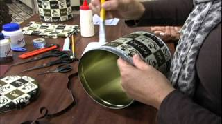getlinkyoutube.com-20120611 Forração de lata com tecido