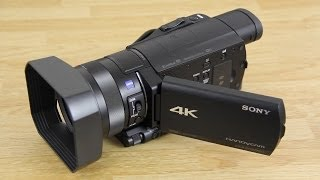 getlinkyoutube.com-Sony FDR-AX100 4K Camcorder Unboxing, First Look, and more!