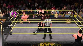 getlinkyoutube.com-WWE 2K16 CAW Match: Kane Daughter vs Undertaker Daughter w/ Managers