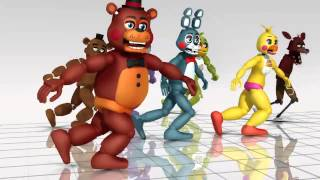 getlinkyoutube.com-Bailando con five night at freddy's