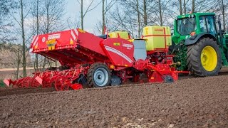Grimme GL 430 potato planter with Grimme GR 300 rotary tiller and new tank system