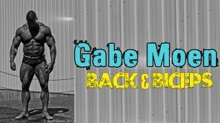 getlinkyoutube.com-21 Inch Arms?! | Gabe Moen Trains Back & Biceps PRE 2012 USA's | Believe Media