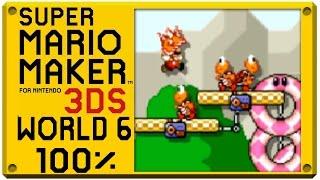 getlinkyoutube.com-Super Mario Maker for Nintendo 3DS - World 6 | Super Mario Challenge 100% Walkthrough