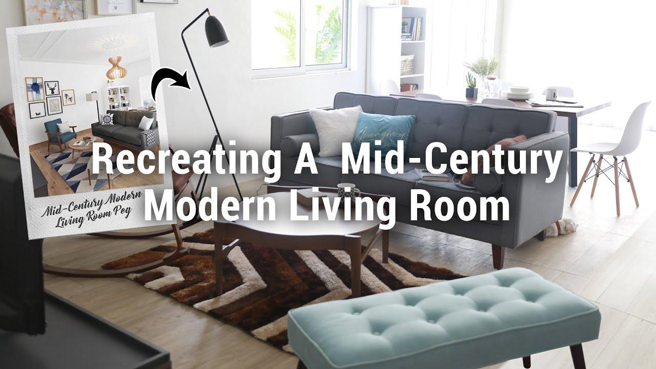 Recreating a Mid-Century Modern Living Room