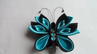 getlinkyoutube.com-Как сделать Бабочку ( мотылёк ) Канзаши Hand Made