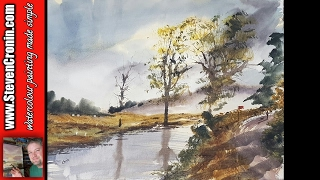 getlinkyoutube.com-Lake District watercolour painting from a photograph