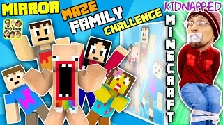 KIDNAPPED in MINECRAFT!! FGTEEV MIRROR MAZE Family Challenge! Save DUDDY Mini-Game (Gameplay / Skit)