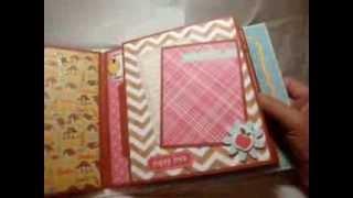 getlinkyoutube.com-Mini album for Claudette and her cute doggies Roxy and Fuji -- scrapbooking mini album