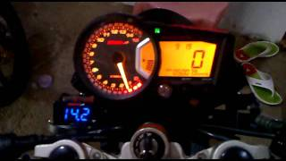 getlinkyoutube.com-speedometer koso RX2 + voltmeter koso slim on yamaha vixion