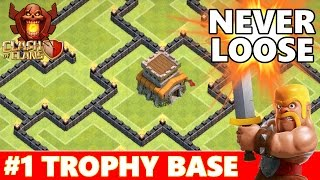 getlinkyoutube.com-Clash Of Clans | Best TownHall 8 (TH8) Trophy Base Defense | New Dark Spell Factory & Air Sweeper