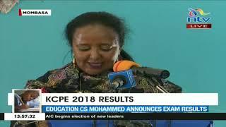 Kcpe 2018 Results  Education Cs Amina Mohamed On Exam Cheating