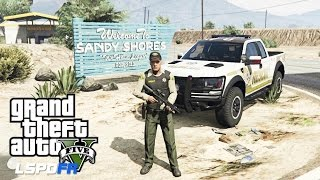 getlinkyoutube.com-GTA 5 - LSPDFR - EPiSODE 72 - LET'S BE COPS - SANDY SHORES PATROL (GTA 5 PC POLICE MODS RAPTORS)