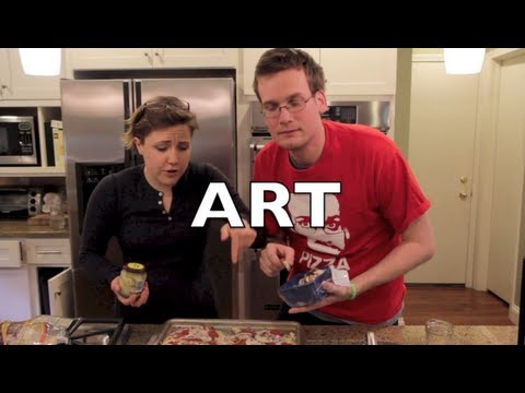 Making drunk pizza with John Green