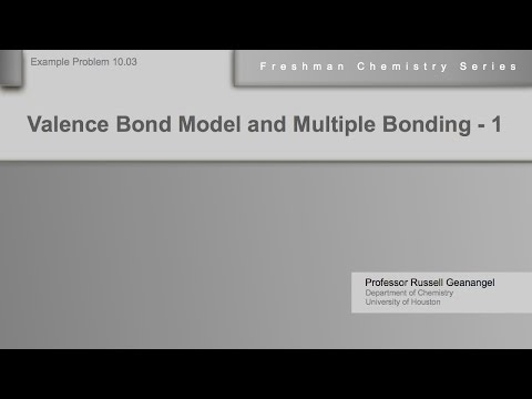 Chemistry Help Workshop 10.03: Valence Bond Model and Multiple Bonding - Example 1