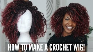 getlinkyoutube.com-How to make a Ombre Burgundy Crochet Wig | Elevate Styles