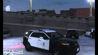 getlinkyoutube.com-GTA 5 PC Trying Out New LAPD Ford Explorer