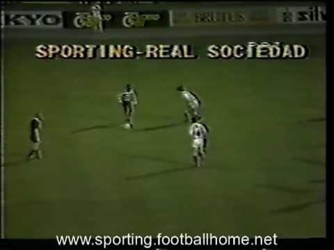 Sporting - 1 Real Sociedad - 0 , 1/4 Final 1º jogo Taça Campeões Europeus de 1982/1983