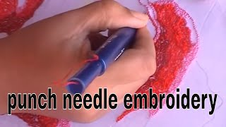 getlinkyoutube.com-punch needle embroidery tutorial with ultra punch needle