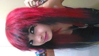getlinkyoutube.com-Como teñi mi pelo rojo y negro By: LizzyNyaan