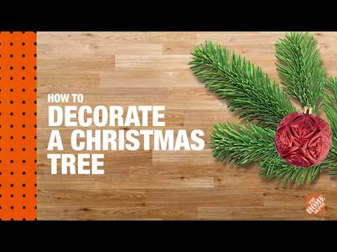 A video on how to decorate a Christmas tree.