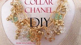 DIY. Collar Chanel. Necklace Chanel.