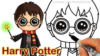 getlinkyoutube.com-How to Draw Harry Potter Step by step Chibi