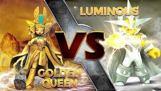 getlinkyoutube.com-Skylanders Trap Team - Golden Queen VS Luminous
