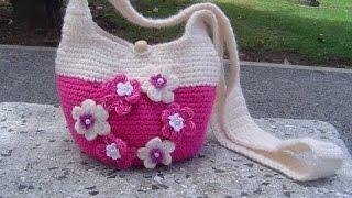 getlinkyoutube.com-Como hacer Bolso tejido a  crochet paso a paso parte 1/2