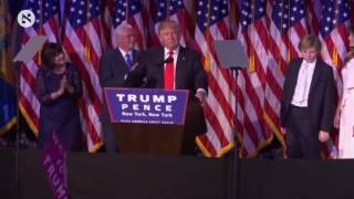 Republican President-elect Donald Trump speech