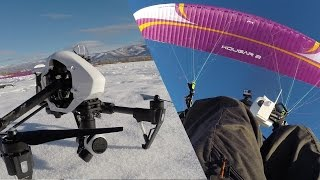 getlinkyoutube.com-ULTIMATE SELFIE - DJI Inspire AND Paramotor