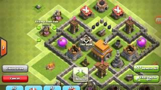 getlinkyoutube.com-Town Hall 5 Hybrid base(no spell factory)+REPLAY!