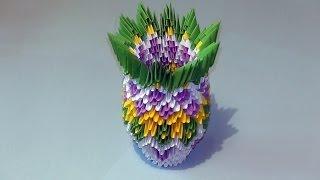 getlinkyoutube.com-3D origami how to make a vase modular origami tutorial