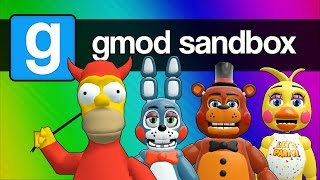 getlinkyoutube.com-Five Nights at Freddy's 2, 3, and 4 with Homer Simpson (Gmod Sandbox Funny Moments)