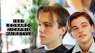 getlinkyoutube.com-1997 Leonardo DiCaprio Hairstyle | Jack Dawson | Long Length | Retro Haircut