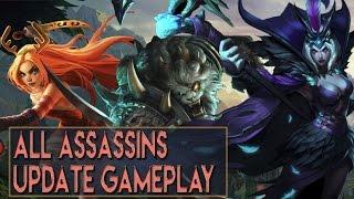 getlinkyoutube.com-ALL ASSASSINS UPDATES GAMEPLAY - Katarina LeBlanc Rengar Talon Akali - League of Legends