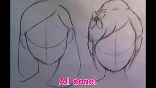 getlinkyoutube.com-♡Quick Tips♡ How to draw cute hairstyles for BEGINNERS (part 1)