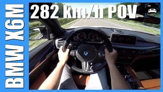 getlinkyoutube.com-BMW X6M ACCELERATION & TOP SPEED POV Autobahn Test Drive & Sound