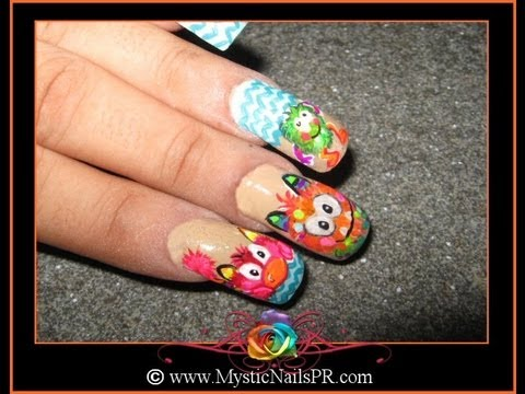 FUZZY CUTE MONSTERS Collab with SnowWhiteIsBack :::... Jennifer Perez of Mystic Nails ☆