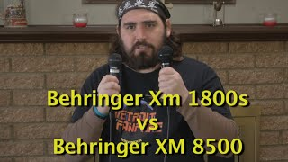 Behringer Microphone test and comparison: XM1800s vs XM8500