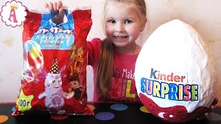 getlinkyoutube.com-Огромный киндер сюрприз Giant Egg Surprise яйцо с игрушками сюрпризы для детей МЛП Лунтик Дисней