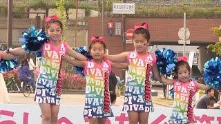 getlinkyoutube.com-キッズ チアダンスKOBE☆DIVA  長田  神戸まつり・Chia Dance KOBE ☆ DIVA  Kobe Festival