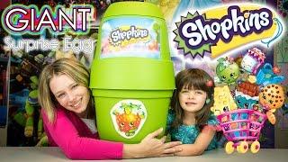 getlinkyoutube.com-SHOPKINS GIANT SURPRISE EGG | Shopkins Season 3 Blind Baskets & Playsets Opening