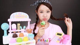 getlinkyoutube.com-캐리의 똘똘이 아이스크림 가게 장난감 마트놀이 CarrieAndToys