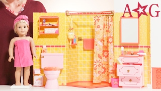 getlinkyoutube.com-Julie's Groovy Bathroom! | Julie Albright | American Girl