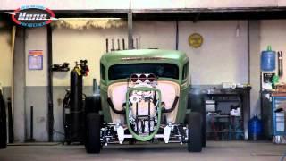 getlinkyoutube.com-Nene NHRA - Ford 34 Drag Rat V8 Blower - Burnout