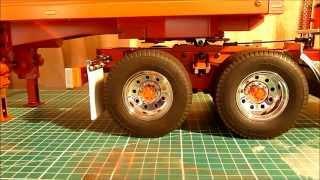getlinkyoutube.com-Motorised Trailer Legs on my Tamiya Globe Liner Kenworth K100 Aerodyne