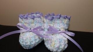 getlinkyoutube.com-Crochet zapaticos o boticas para Bebe'
