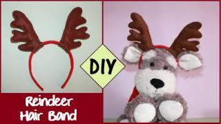 getlinkyoutube.com-DIY Reindeer Hair Band   CHRISTMAS DIY
